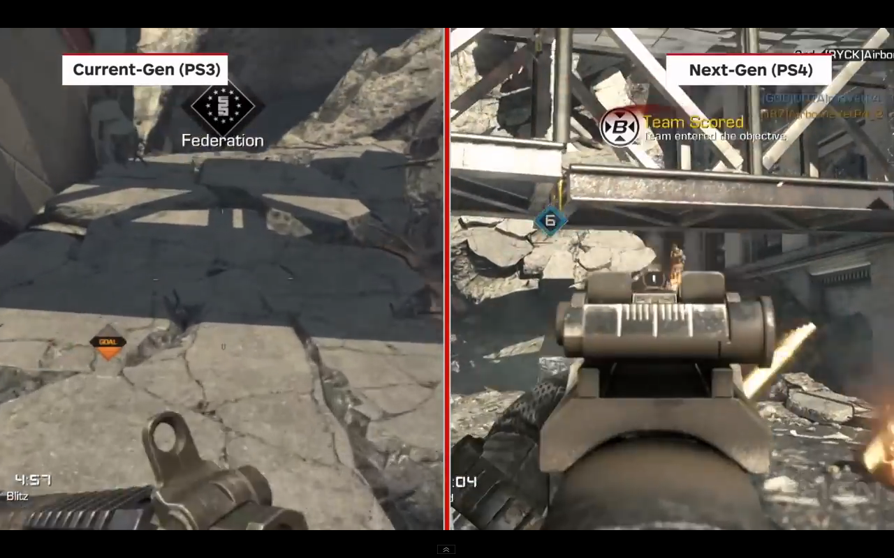 CALL OF DUTY: GHOSTS PS3/360 VS. PS4 GRAPHICAL COMPARISON ...